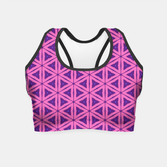 Miniatur abstract geometric pattern Crop Top, Live Heroes