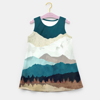 Thumbnail image of Fall Forest Night Girl's summer dress, Live Heroes