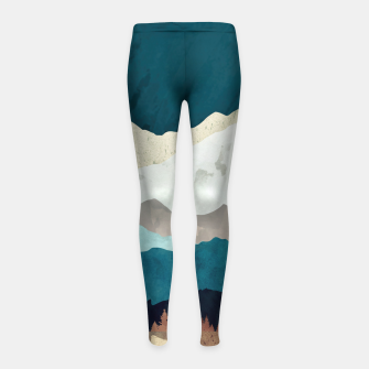 Thumbnail image of Fall Forest Night Girl's leggings, Live Heroes
