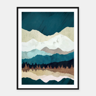 Thumbnail image of Fall Forest Night Framed poster, Live Heroes