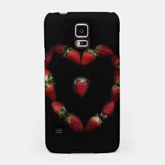 Thumbnail image of Heart of strawberries Samsung Case, Live Heroes