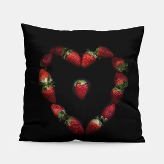 Thumbnail image of Heart of strawberries Pillow, Live Heroes