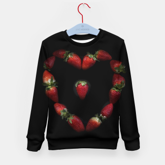 Thumbnail image of Heart of strawberries Kid's sweater, Live Heroes