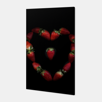 Thumbnail image of Heart of strawberries Canvas, Live Heroes