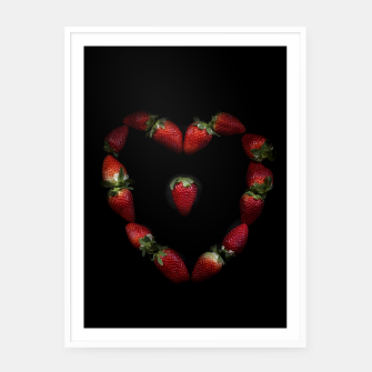 Thumbnail image of Heart of strawberries Framed poster, Live Heroes