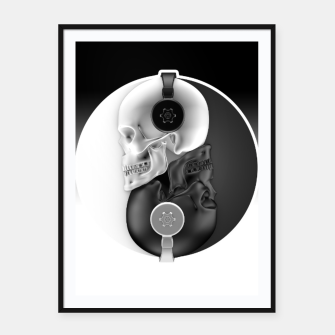 Thumbnail image of Headphone Harmony  Framed poster, Live Heroes