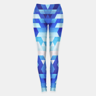 Thumbnail image of Abstract geometric triangle pattern (futuristic future symmetry) in ice blue Leggings, Live Heroes