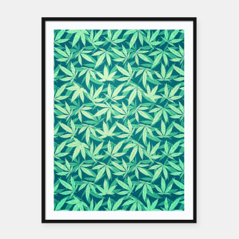Thumbnail image of Cannabis / Hemp / 420 / Marijuana  - Pattern Framed poster, Live Heroes