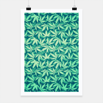 Cannabis / Hemp / 420 / Marijuana  - Pattern Poster miniature