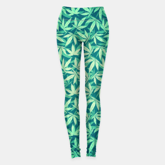 Thumbnail image of Cannabis / Hemp / 420 / Marijuana  - Pattern Leggings, Live Heroes