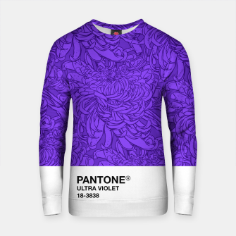 Thumbnail image of Pantone Ultra Violet Cotton sweater, Live Heroes