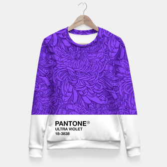 Thumbnail image of Pantone Ultra Violet Woman cotton sweater, Live Heroes