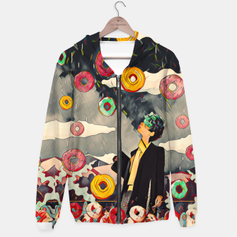Thumbnail image of Donuts Cotton zip up hoodie, Live Heroes