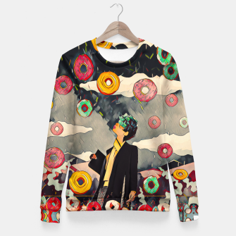 Thumbnail image of Donuts Woman cotton sweater, Live Heroes
