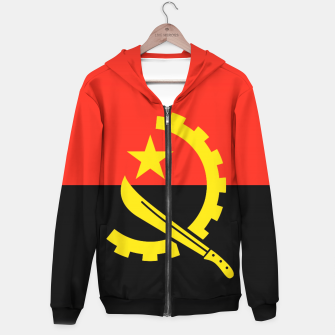 Thumbnail image of Angola Flag Cotton zip up hoodie, Live Heroes