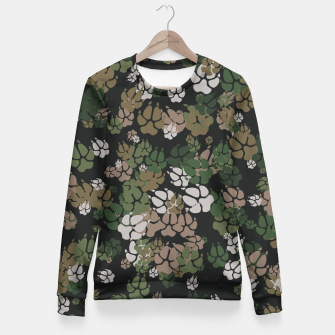 Thumbnail image of Canine Camo WOODLAND Woman cotton sweater, Live Heroes
