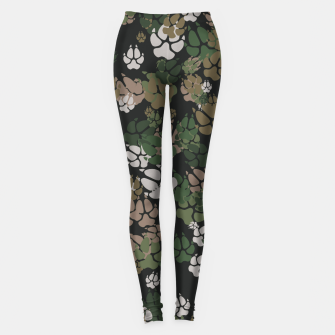 Thumbnail image of Canine Camo WOODLAND Leggings, Live Heroes