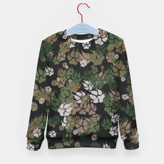 Thumbnail image of Canine Camo WOODLAND Kid's sweater, Live Heroes