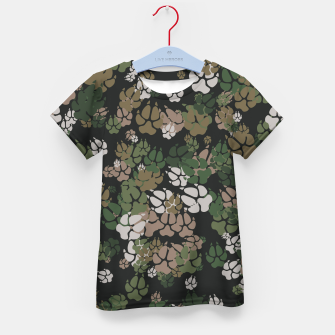 Thumbnail image of Canine Camo WOODLAND Kid's t-shirt, Live Heroes