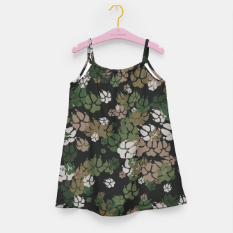 Thumbnail image of Canine Camo WOODLAND Girl's dress, Live Heroes