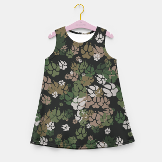 Thumbnail image of Canine Camo WOODLAND Girl's summer dress, Live Heroes