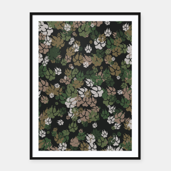 Thumbnail image of Canine Camo WOODLAND Framed poster, Live Heroes