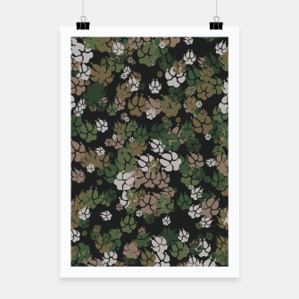Thumbnail image of Canine Camo WOODLAND Poster, Live Heroes