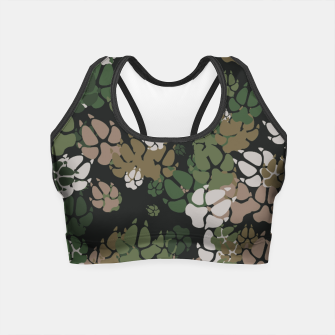 Thumbnail image of Canine Camo WOODLAND Crop Top, Live Heroes