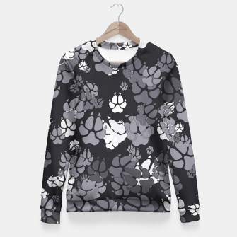 Thumbnail image of Canine Camo URBAN Woman cotton sweater, Live Heroes