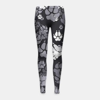 Thumbnail image of Canine Camo URBAN Girl's leggings, Live Heroes