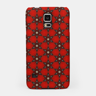 Thumbnail image of Arabesque Red Stars Samsung Case, Live Heroes