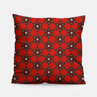 Thumbnail image of Arabesque Red Stars Pillow, Live Heroes