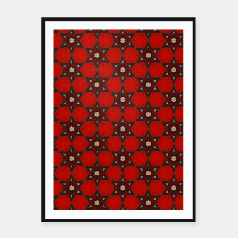 Thumbnail image of Arabesque Red Stars Framed poster, Live Heroes