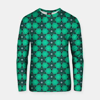 Thumbnail image of Arabesque Turquoise Stars Cotton sweater, Live Heroes