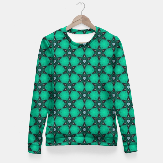 Thumbnail image of Arabesque Turquoise Stars Woman cotton sweater, Live Heroes