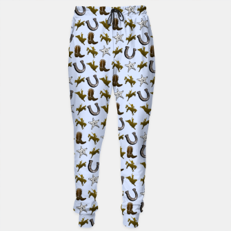 Thumbnail image of Old West Cowboy Rodeo Pattern Cotton sweatpants, Live Heroes