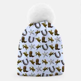 Thumbnail image of Old West Cowboy Rodeo Pattern Beanie, Live Heroes