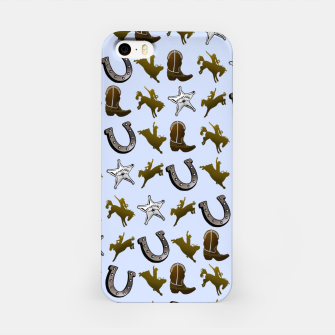 Thumbnail image of Old West Cowboy Rodeo Pattern iPhone Case, Live Heroes