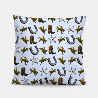 Thumbnail image of Old West Cowboy Rodeo Pattern Pillow, Live Heroes