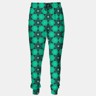 Thumbnail image of Arabesque Turquoise Stars Cotton sweatpants, Live Heroes