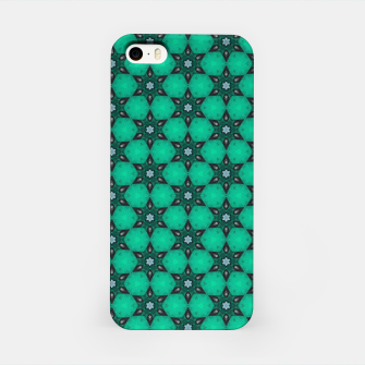 Thumbnail image of Arabesque Turquoise Stars iPhone Case, Live Heroes