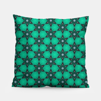 Thumbnail image of Arabesque Turquoise Stars Pillow, Live Heroes