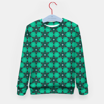 Thumbnail image of Arabesque Turquoise Stars Kid's sweater, Live Heroes