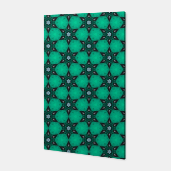 Thumbnail image of Arabesque Turquoise Stars Canvas, Live Heroes
