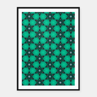 Thumbnail image of Arabesque Turquoise Stars Framed poster, Live Heroes