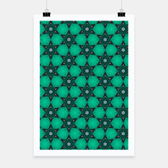 Thumbnail image of Arabesque Turquoise Stars Poster, Live Heroes