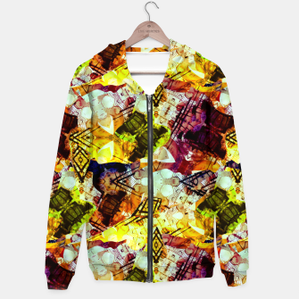 Graffiti Style - Markings on Colors Cotton zip up hoodie thumbnail image