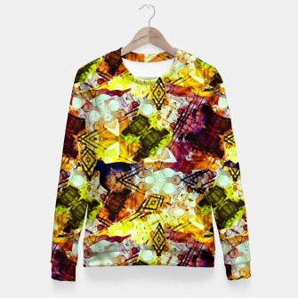 Graffiti Style - Markings on Colors Woman cotton sweater thumbnail image