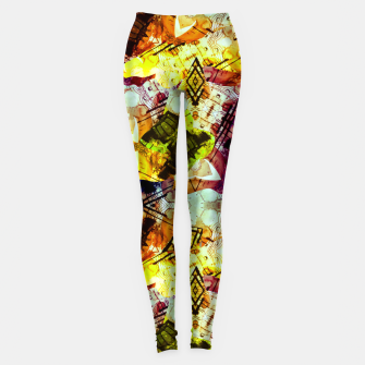 Graffiti Style - Markings on Colors Leggings thumbnail image