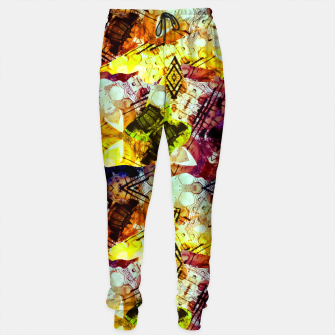Graffiti Style - Markings on Colors Cotton sweatpants thumbnail image
